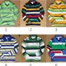 Wholesale - Boys Shirts Boys long sleeve  cotton striped shirt  15pcs