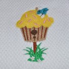 """Birdhouse"" Cupcake Kitchen Dishtowel"