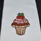 """Delectable Strawberry"" Cupcake Kitchen Dishtowel"