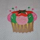 """Crafty Cupcake """"Pin Cushion"""" Kitchen Dishtowel"""