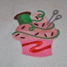 "Crafty Cupcake ""Thread & Needles"" Kitchen Dishtowel"