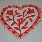"""Floral Heart"" Valentines Day Kitchen Dishtowel"