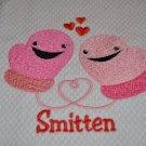 """""""Smitten Mittens"""" Valentines Day Kitchen Dishtowel"""