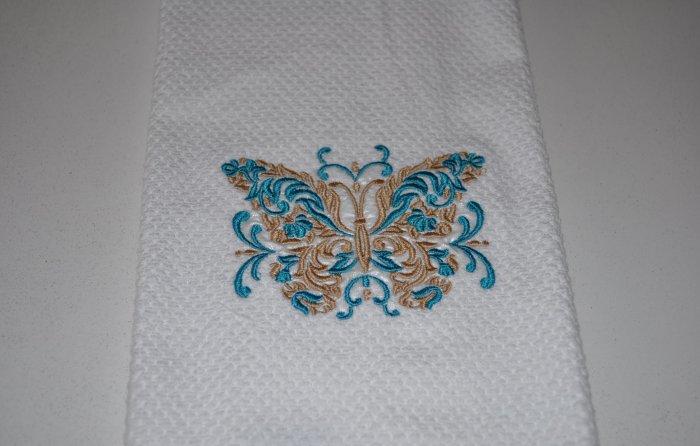 """""""Butterfly"""" Kitchen Dishtowel"""