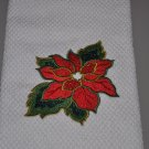 """Poinsettia"" Christmas Kitchen Dishtowel"