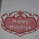 """Happy Holidays"" Christmas Kitchen Dishtowel"