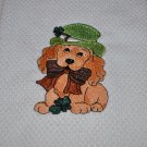 """St Patricks Day Dog"" Kitchen Dishtowel"