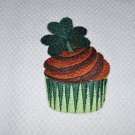 "St. Patrick's Day ""Irish Cupcake w/Shamrock"" St. Patrick's Day Kitchen Dishtowel"