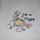 """""""He Is Risen"""" Easter Kitchen Dishtowel"""
