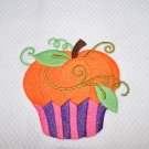"Give Thanks Cupcake ""Pumpkin"" Thanksgiving Kitchen Dishtowel"