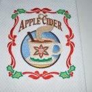 """Christmas Apple Cider"" Christmas Kitchen Dishtowel"