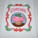"""""""Christmas Cupcake"""" Christmas Kitchen Dishtowel"""
