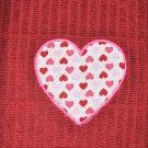 """Candied Hearts Heart"" Applique  Valentines Day Kitchen Dishtowel"