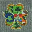 "St. Patrick's Day Applique ""Shamrock"" Shamrock Squares Kitchen Dishtowel"