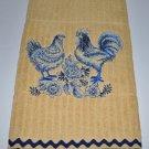 Country Kitchen (Bluework Rooster & Hen) Kitchen Dishtowel