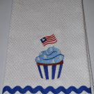 """Cupcake & Flag"" Cupcake Kitchen Dishtowel"