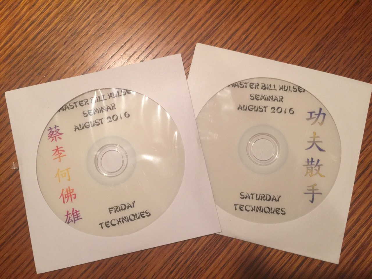 2016 Seminar DVDs for those who attended.