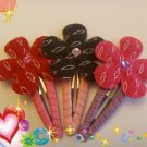 Flower Snap hair clips...Valentine