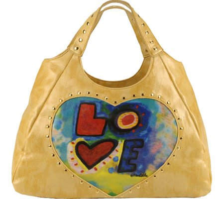 "Susan Nichole ""love"" peace tattoo handbag bag purse tote hobo"