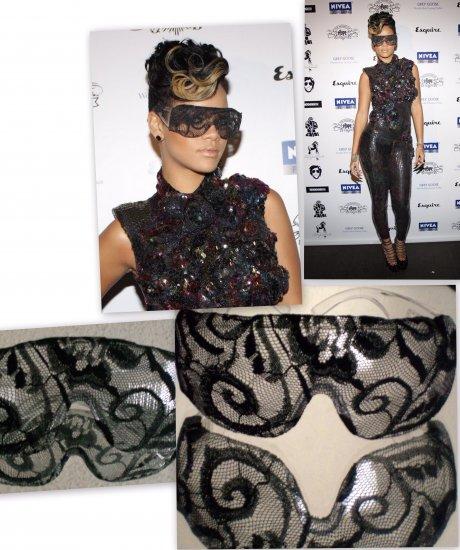 Rhianna Lace glasses black clear Celebrity