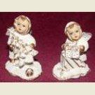 2 ADORABLE SNOW BABY CHRISTMAS ANGEL FIGURINES