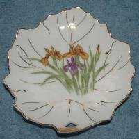 VINTAGE NAPCO HAND PAINTED CANDY - NUT DISH