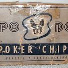 "VINTAGE PO DO ""Peau Doux""   PLASTIC INTERLOCKING POKER CHIPS IN ORIGINAL BOX"