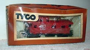 """TYCO HO SCALE """"SANTA FE"""" ATSF 8 WHEEL CABOOSE WITH BOX"""