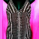 GUESS Brown Cotton Rhinestone Button Cami - Size Large