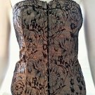 HAVE Black, Silver, Beige Corset Top - Size Small