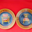 #2 - 2 Vintage GUCCI Chair Porcellana Porcelain Collector's Keepsake Plates - RARE