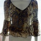 CACHE Sheer Sexy Animal Print Blouse - Size Small