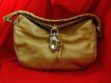 FRANCESCO BIASIA Tan Italian Leather Shoulder Bag