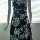 WHITE HOUSE BLACK MARKET Strapless Black & White Floral Print Dress - Size 10