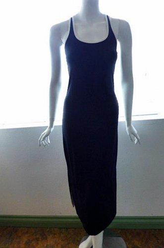 BEBE BBSP Black & White Long Tank Dress - Size Medium