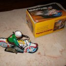 QSH - Wind-Up Metal Motorcycle With Rider - MS-702 - Includes Original Box
