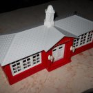 Plasticville - School - Red With Grey Roof