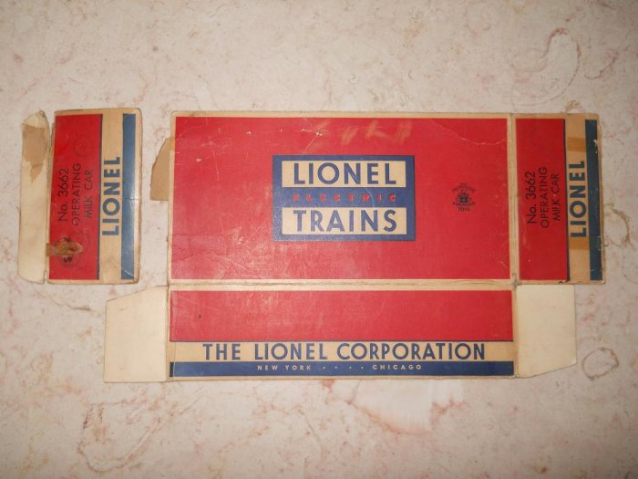 Lionel - #3662 - Operating Milk Car - Box Only