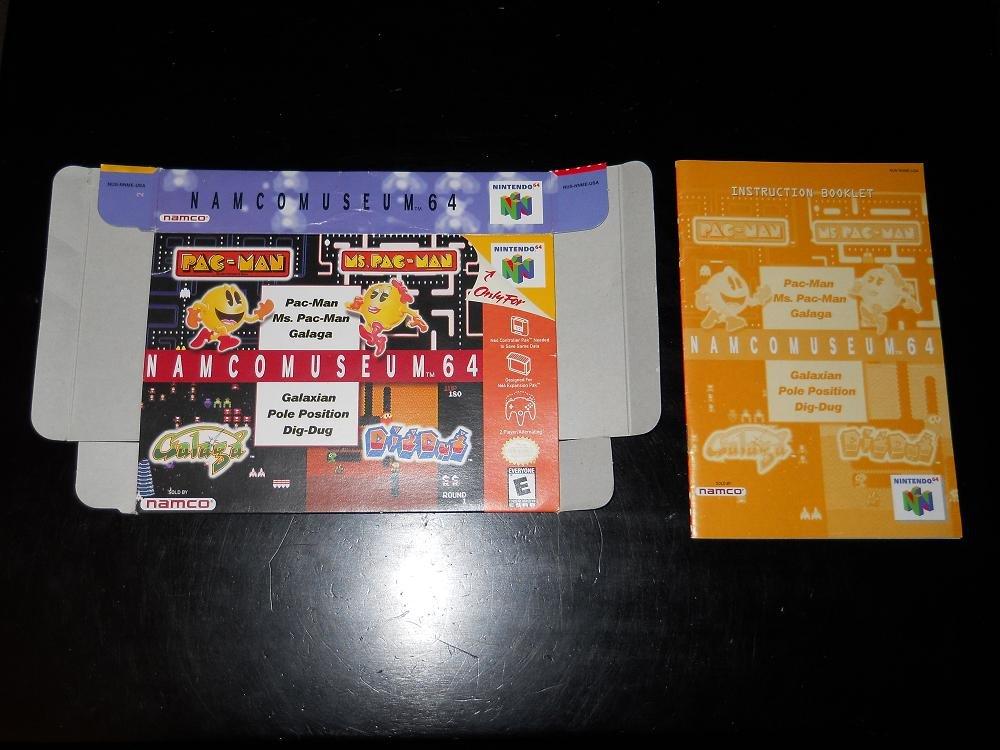 NAMCOMUSEUM 64 - Nintendo - N64 - Box & Instructions Only - 1999