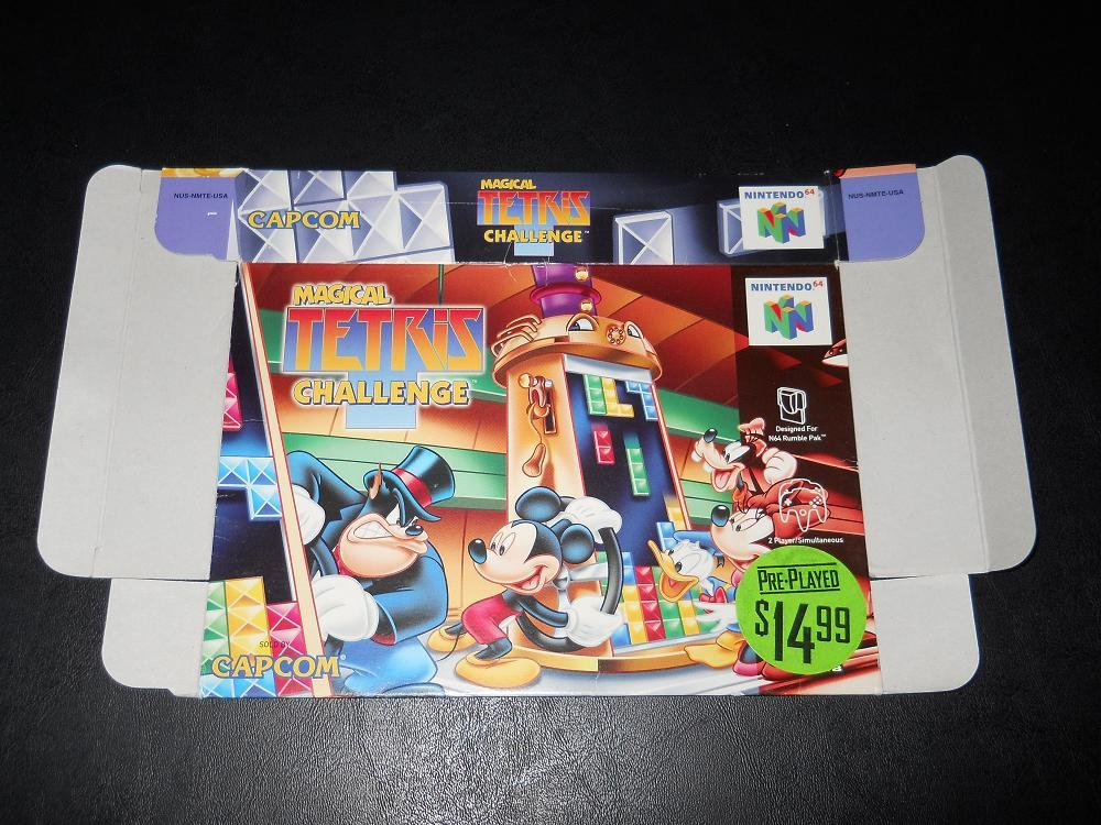 Magical Tetris Challenge - Nintendo - N64 - Box Only - 1998
