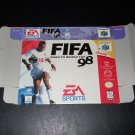 FIFA 98 - Nintendo - N64 - Box Only - 1997