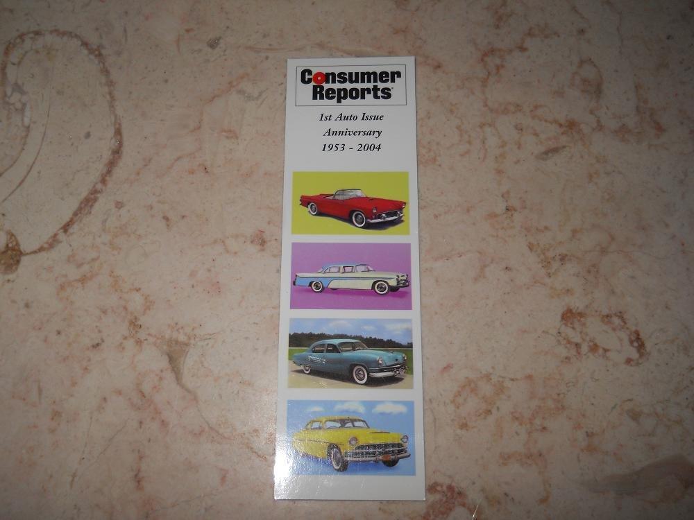 Consumer Reports - Book Mark - 1st Auto Issue Anniversary 1953-2004