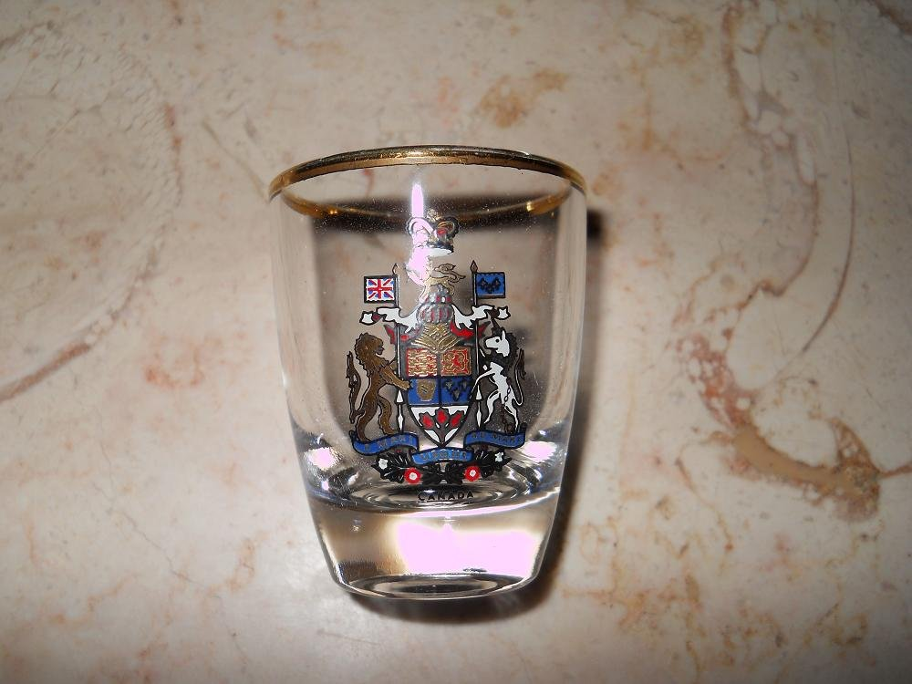 Shot Glass - Canada Emblem - Made In France