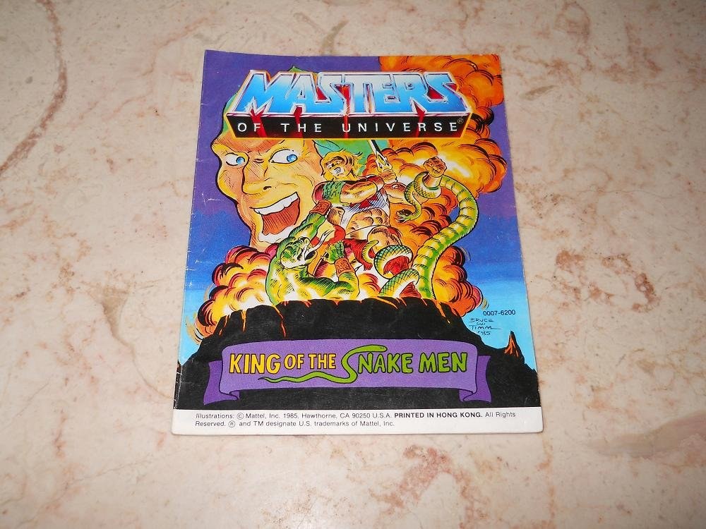 King Of The Snake Men - Mini Comic - Masters Of The Universe - 1985