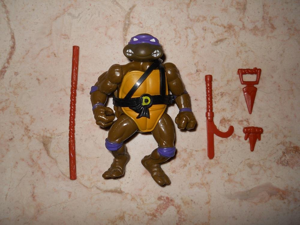 Donatello - Playmates - 1988 - Hard Head - Teenage Mutant Ninja Turtles - Incomplete