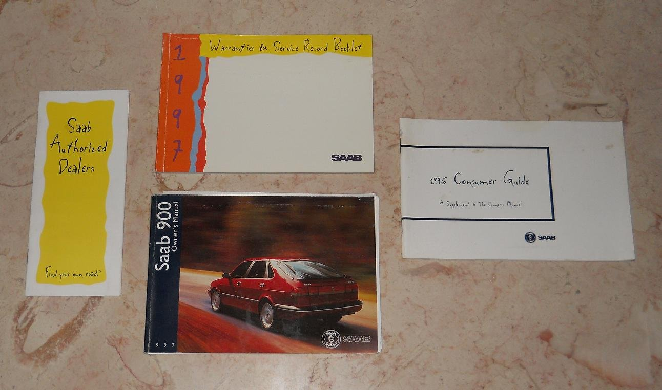 1997 Saab 900 - Owner's Manual, Service Record, Consumer Guide & Dealer List