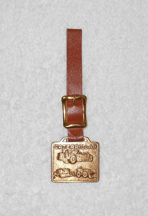Caterpillar Equipment - Bronze Medallion With Leather Strap - Cleveland Bros.
