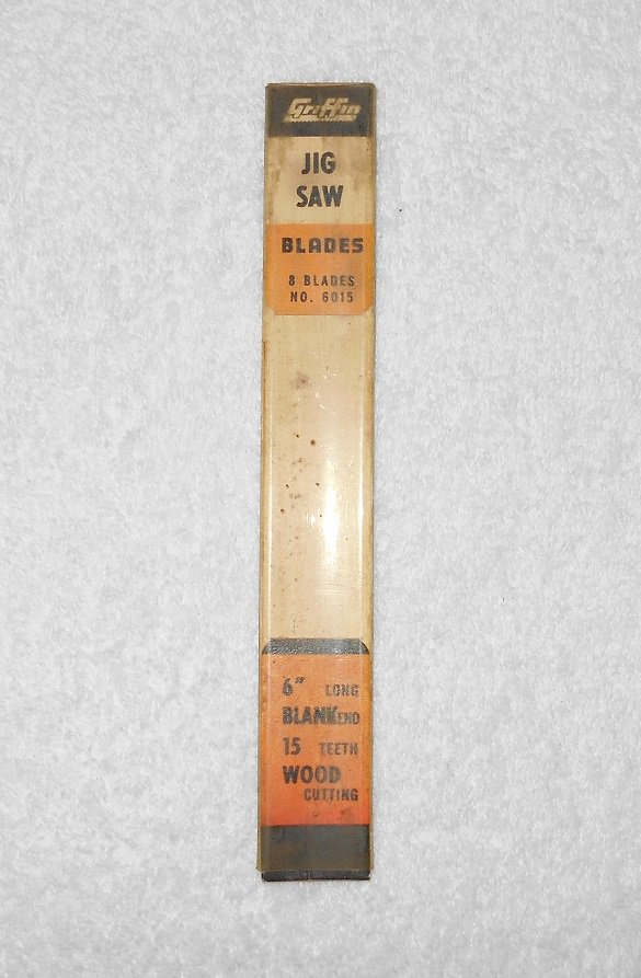 """Griffin - Jig Saw Blades #6015 - 6"""" - 15 Teeth - Packaging Only - Vintage"""