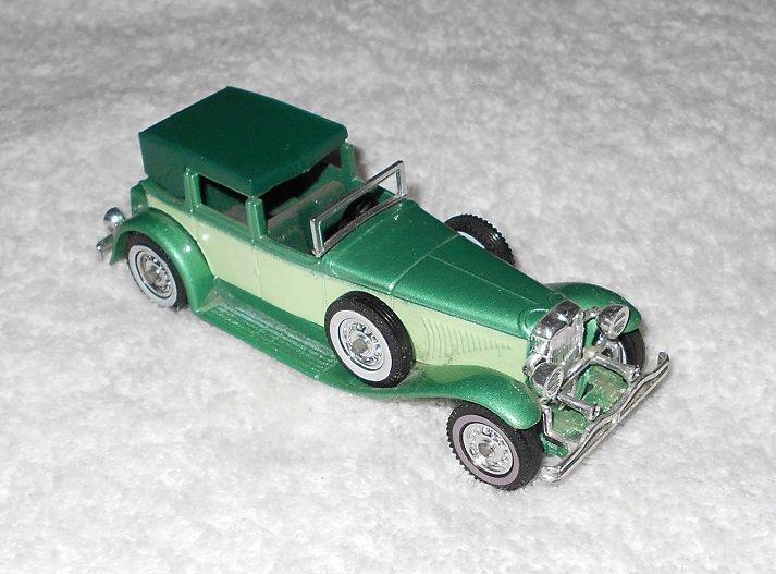 Matchbox - 1930 Model J Duesenberg Town Car - #Y-4 - Green - Metal - 1975
