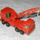 Mobile Crane - #K-12 - Matchbox - Super Kings - Orange - Metal - 1971